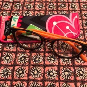 Vera Bradley Readers Glasses w/ Case NWT +2.50